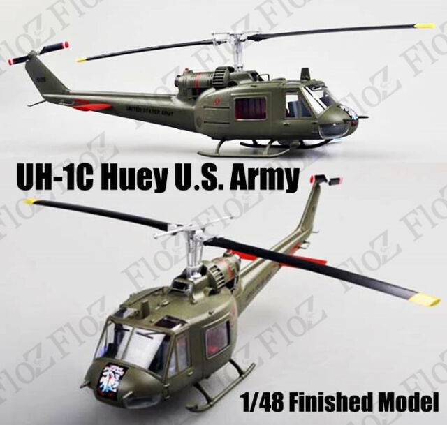 UH-1C Iroquois Huey US Army finished 1/48 Easy model helicopter