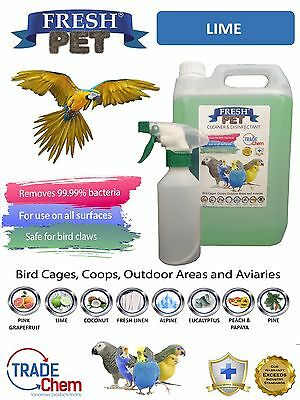 Botella Aerosol-lima Bird Supplies Apprehensive 5l Fresco Mascota Jaula Desinfectante Other Bird Supplies