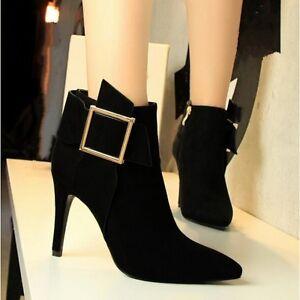 Nero Donna Cw722 10 Bassi Simil Cm Stiletti Stivaletti Scarpe Stivali Pelle x07qnPw4O