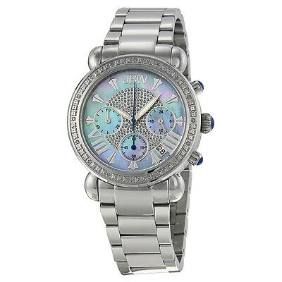 JBW Victory Chronograph Mother of Pearl Diamond Stainless Steel Ladies Watch
