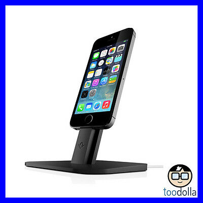 TWELVE SOUTH HiRise, Desktop Stand/Dock, iPhone 5s/6/6s/7/iPad Mini, Black