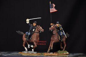 Britains 17371 Capitaine de l'Union, Guidon Bearer, figurine en métal monté sur soldat
