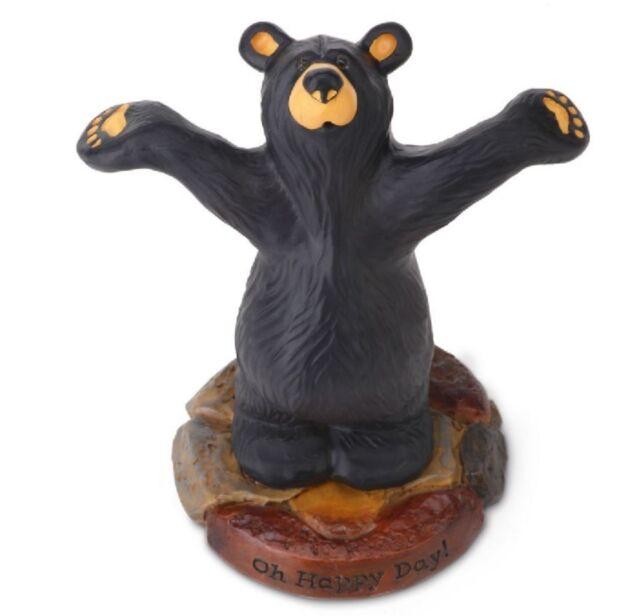 Big Sky Carvers Bearfoots Bear Riding Bearback Figurine Black Bear