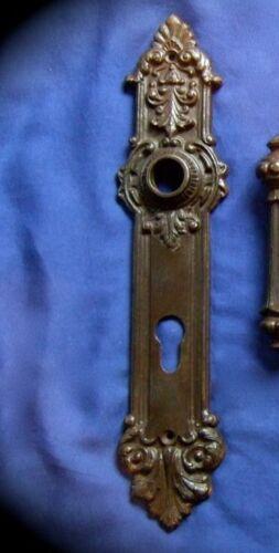 Langschild Gründerzeit Antik Eisen gewachst für Haustür PZ92