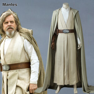 Image is loading Luke-Skywalker-Cosplay-Star-Wars-8-The-Last-  sc 1 st  eBay & Luke Skywalker Cosplay Star Wars 8 The Last Jedi Costume Fancy Dress ...