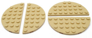 LEGO-4-x-Halb-Rundplatte-Halbkreis-4x8-beige-Tan-22888-NEUWARE