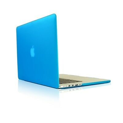 "AQUA BLUE Rubberized Hard Case for NEW Macbook Pro 13"" A1425 with Retina display"