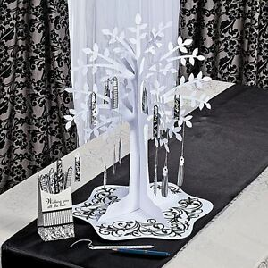 Image Is Loading Black Amp White Wishing Tree Centerpiece Weddings Reception