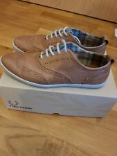509d279917 Fred Perry Newburgh Brogue Tan Shoes Size 8 for sale online
