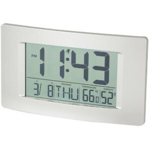Image Is Loading Digitech Lcd Wall Clock With Calendar And Temperature