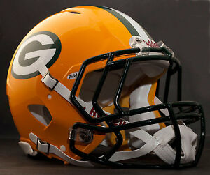 a2c54aa083b Image is loading CUSTOM-GREEN-BAY-PACKERS-NFL-Riddell-Speed-AUTHENTIC-