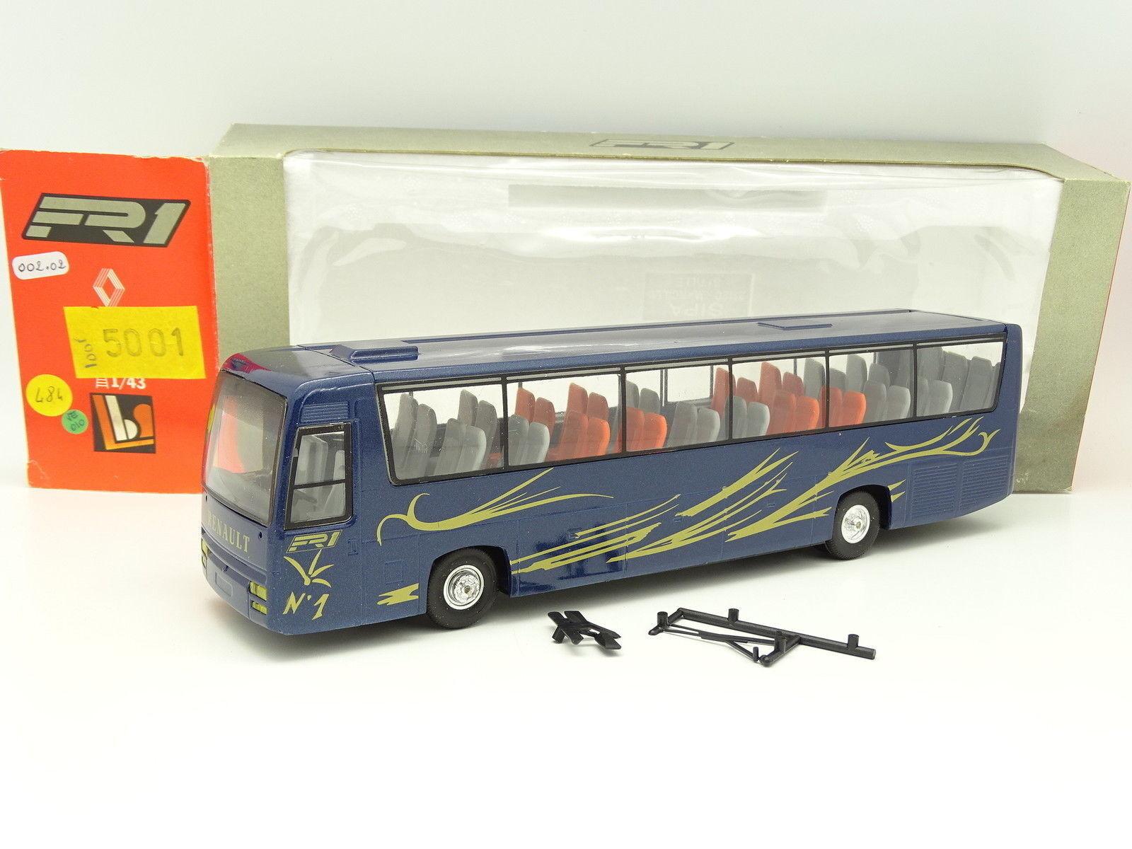Eligor lbs 1   43 - bus auto autobus renault fr1 blau