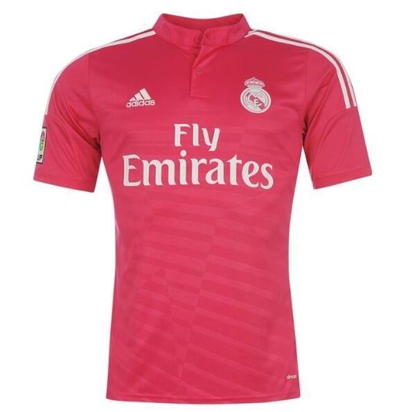 Adidas Away Auswärts Trikot Trikot Trikot Real Madrid 2014 2015 Rot Rosa alle Größen Neu 94082f