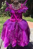 DISNEY STORE UK VIDIA TINKERBELL PURPLE FAIRY FAIRIES COSTUME DRESS GIRLS XS 3 4