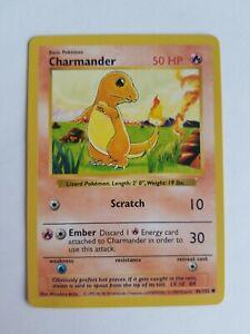 Charmander 1999 Unlimited 46//102 NEAR MINT Base Set Common Pokemon