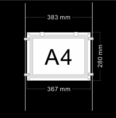 A4 2 Pieces Landscape Double Sided Kit LED Window Panel Estate Agent Display