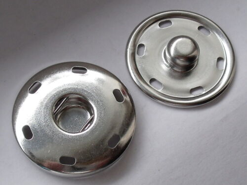 6 Stück MEGA große Druckknöpfe Knöpfe Druckknopf zum Annähen 35 mm NEU rostfrei