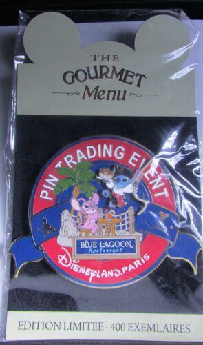 Disney Gourmet Pin Trading Event Stitch /& Angel Blue Lagoon Jumbo Paris Pin