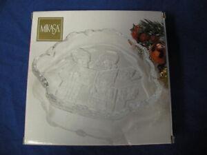 NEW-MIKASA-CAROLERS-QQ987-210-GLASS-SWEET-DISH-8-25-034-CANDY-DISH