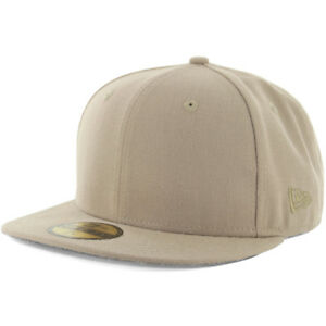 New Era Plain Tonal 59Fifty Fitted Hat (British Khaki) Men s Blank ... 8e73f13d86e