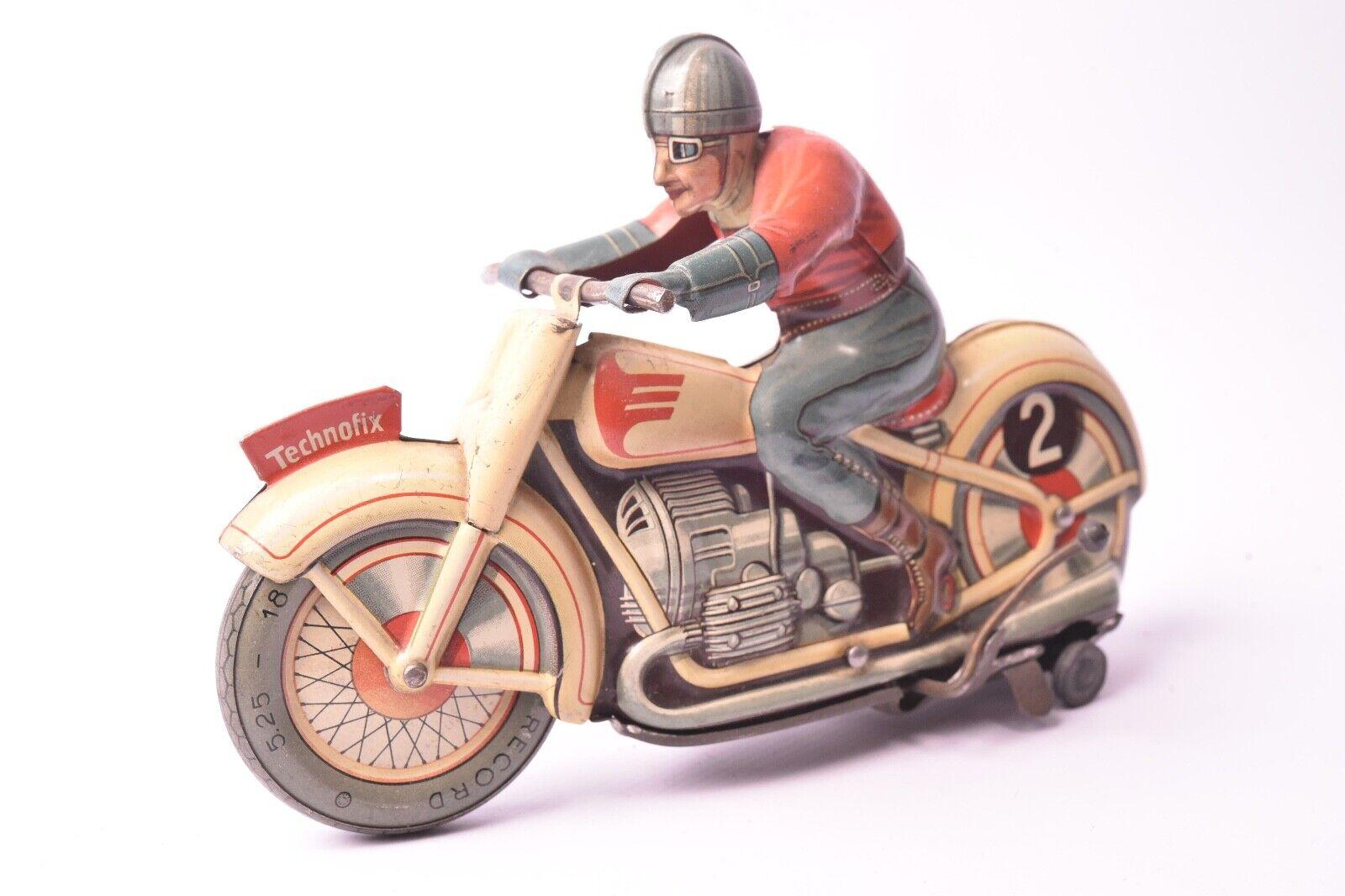 Juguete Ancien. Moto Technofix Alemania, 1945 US Zona , Chapa de Metal