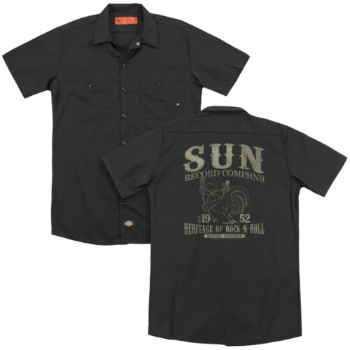 Sun Records ROCKABILLY BIRD Licensed Adult Dickies Work Shirt All Sizes