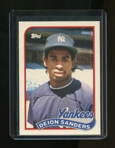1989 Topps Traded #110T Deion Sanders New York Yankees Rookie Card
