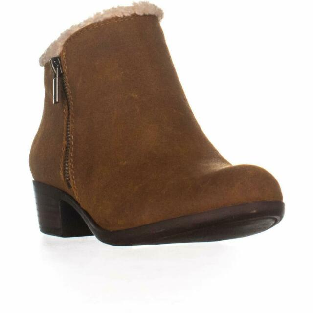 Lucky Brand Womens Basel Sher Leather Almond Toe Ankle Fashion, Cedar, Size 6.5