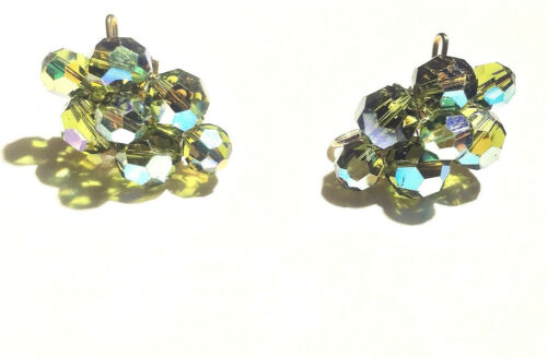 Earrings bronze Lord of the Forest green moss green