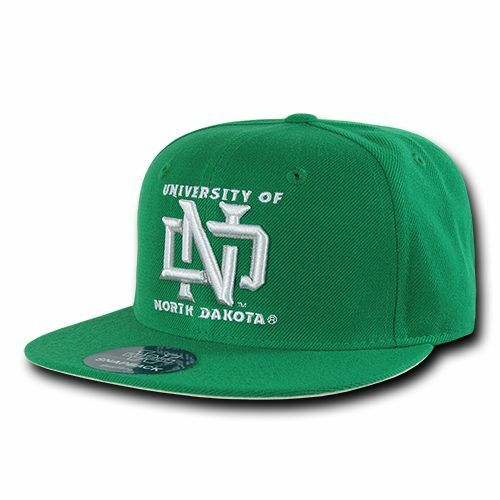 Details about University of North Dakota UND NCAA Fitted Flat Bill Baseball  Cap Hat