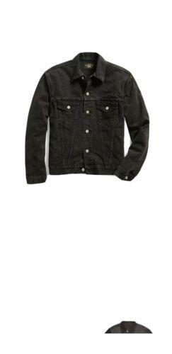 Rare Ralph Lauren Rrl Black Denim Jacket