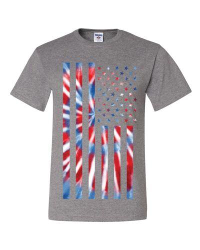 Tie-dye American Flag T-Shirt 4th of July Stars and Stripes Tee Shirt