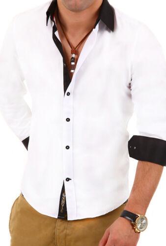 Carisma Camicia Slim Fit Contrasto Polo Clubwear Nero//Bianco//Rosso Nuovo