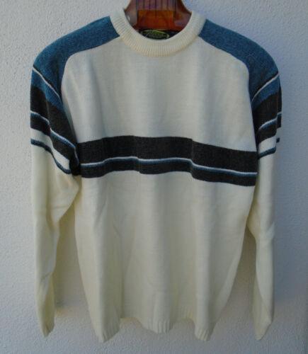 Vintage 1970s 80s Mens PAZZO Velour Striped Sweate