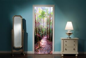Door-Mural-Enchanted-Forest-View-Wall-Stickers-Decal-Wallpaper-22