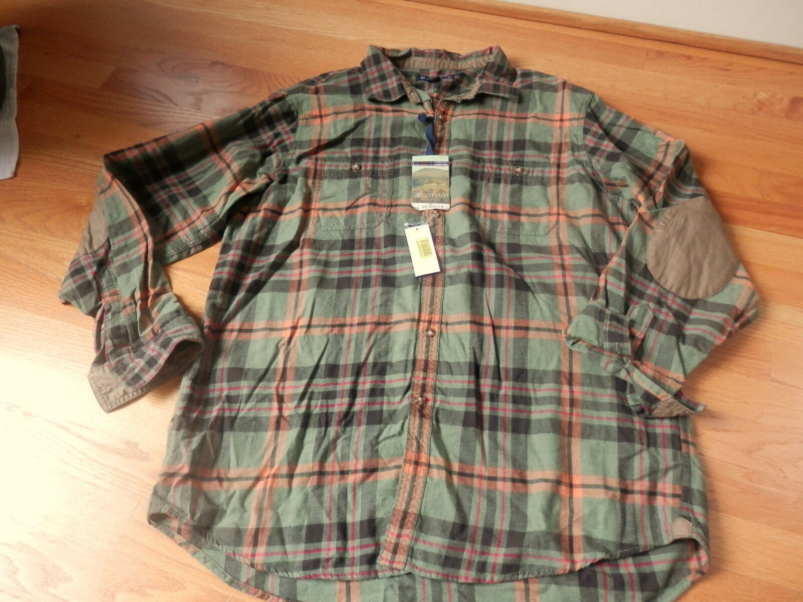 NWT Cremieux Collection Plaid Long Sleeve Shirt XL