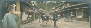 Japan-Panoramic-View-Nikko-Vintage-silver-print-Vue-panoramique-Tirage-a