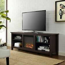 Walker Edison 70inch Fireplace TV Stand - Espresso - W70FP18ES NEW