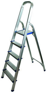 Alu-Trittleiter-Stehleiter-Haushalt-Leiter-5-Trittstufen