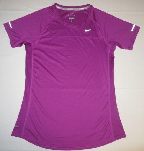 fit Workout manga corta Nike mujer Athletic Dri Camiseta Ss para de Medium Running Purple OqEwnS50