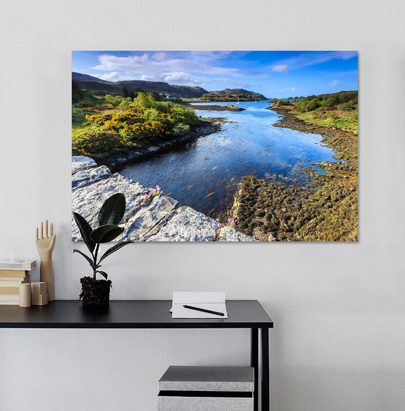 3D Himmel Stein Hang Fluss 8544 Fototapeten Wandbild BildTapete AJSTORE DE Lemon