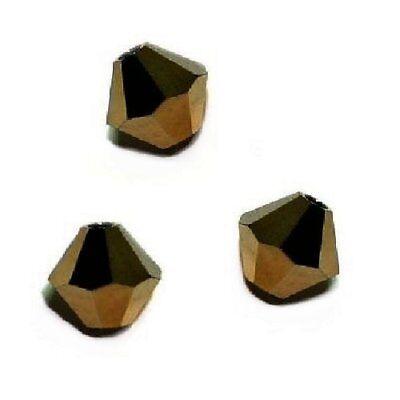 10 Perles Toupies 6mm Cristal Swarovski NOIR JET HEMATITE 5328 XILION