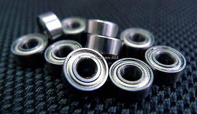 (4 PCS) 602XZZ (2.5x8x4 mm) Metal Shielded PRECISION Ball Bearing Set 2.5*8*4