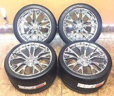 "19"" 20"" Inch Staggered OEM Corvette Z06 Wheels Rims Michelin Tires Chrome 4-Set"