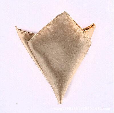 Men Fashion Stylish Italian square Satin Wedding Party pocket Hanky Handkerchief