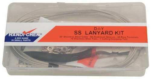 WWG-DISP-LANYARDSS Lanyard Assembly Kit,3//64 In,SS