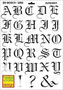 Schablone-Stencil-A3-108-5098-Alphabet-Neu-Heike-Schaefer-Design