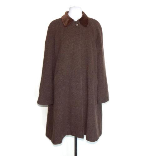 Vtg Cinzia Rocca Brown Wool Alpaca Pea Coat Trench
