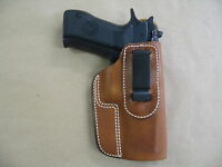 Eaa Witness 9mm / .40 Leather In The Waistband Concealed Carry Holster Tan Rh