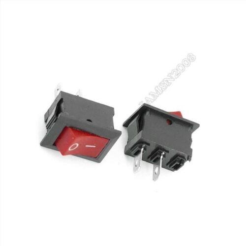 5 Stücke Rot Wippschalter 2 Pin KCD1-101 250 V 6A Boatlike Schalter ow